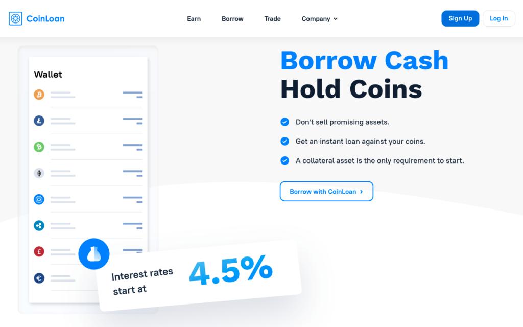 Coinloan BTC mortgage